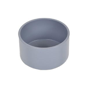 3 6 10 12 16 inch 50mm 200mm 315mm upvc plastic pvc round pipe fitting female end cap for pvc water pipe