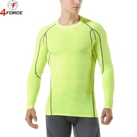 Workout blank athletic running custom fitness men gym wholesale dry fit shirts Compression T Shirt