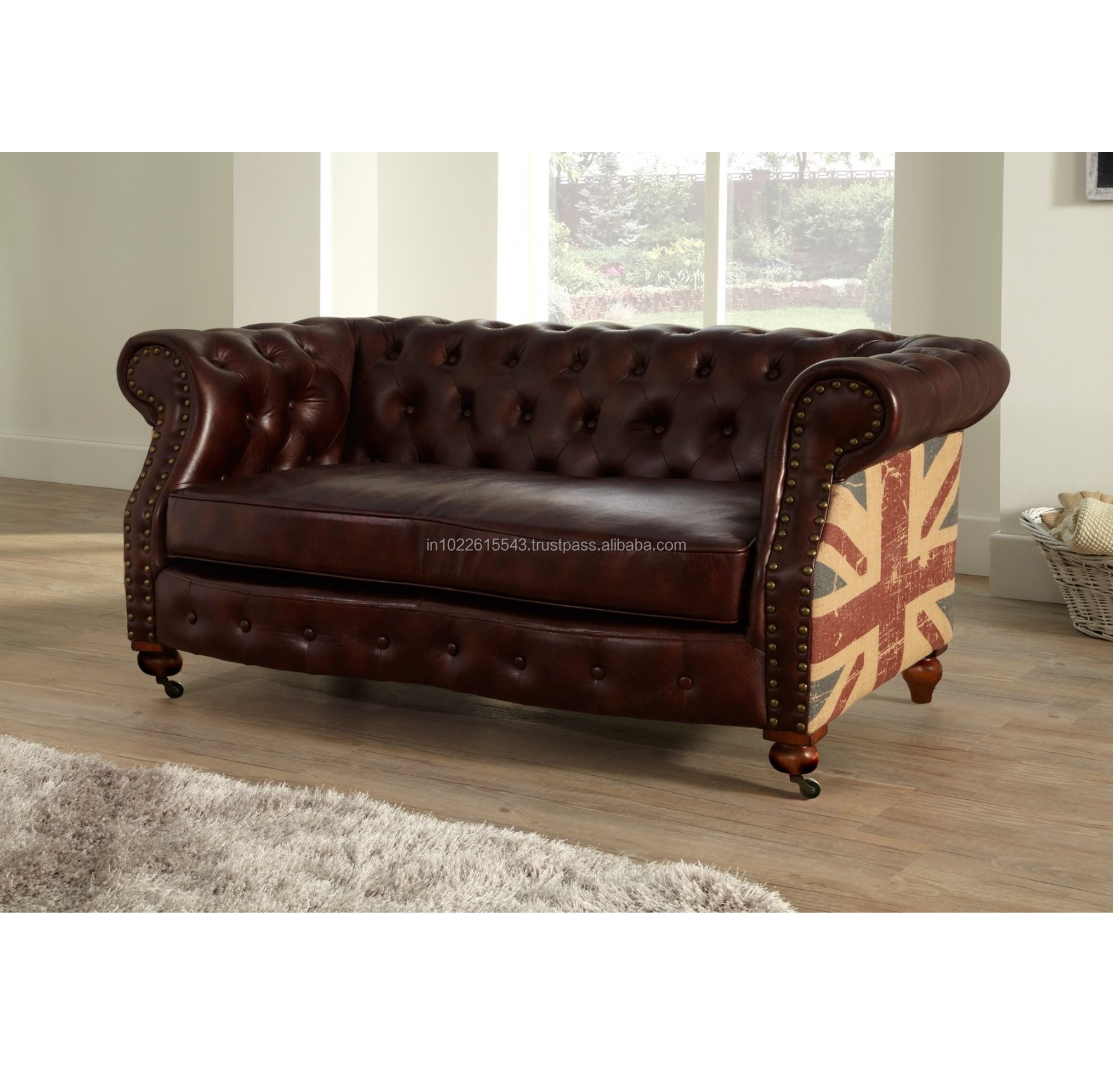 Picture of: Vintage Leather Chesterfield Two Seater Sofa Antique Union Jack Leather Two Seater Sofa Buy Sofa De Cuero Moderno Barato Sofa De Cuero Genuino Italia Sofa De Cuero Product On Alibaba Com