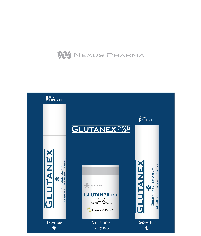 Nexus Pharma Glutanex - Glutahtione Skin Whitening Booster Kit (  Glutathione Sheet Mask Korean Mask Pack + Glutathione Pill ) - Buy