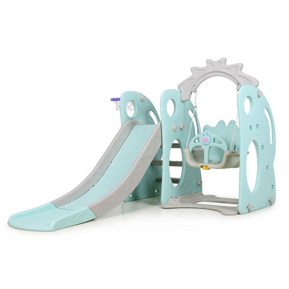 Swing <strong>Slide</strong> set plastic Children <strong>Slide</strong> with Swing Kids Garden Indoor Outdoor Playground Combination of Swing <strong>Slide</strong> Basket Hoop
