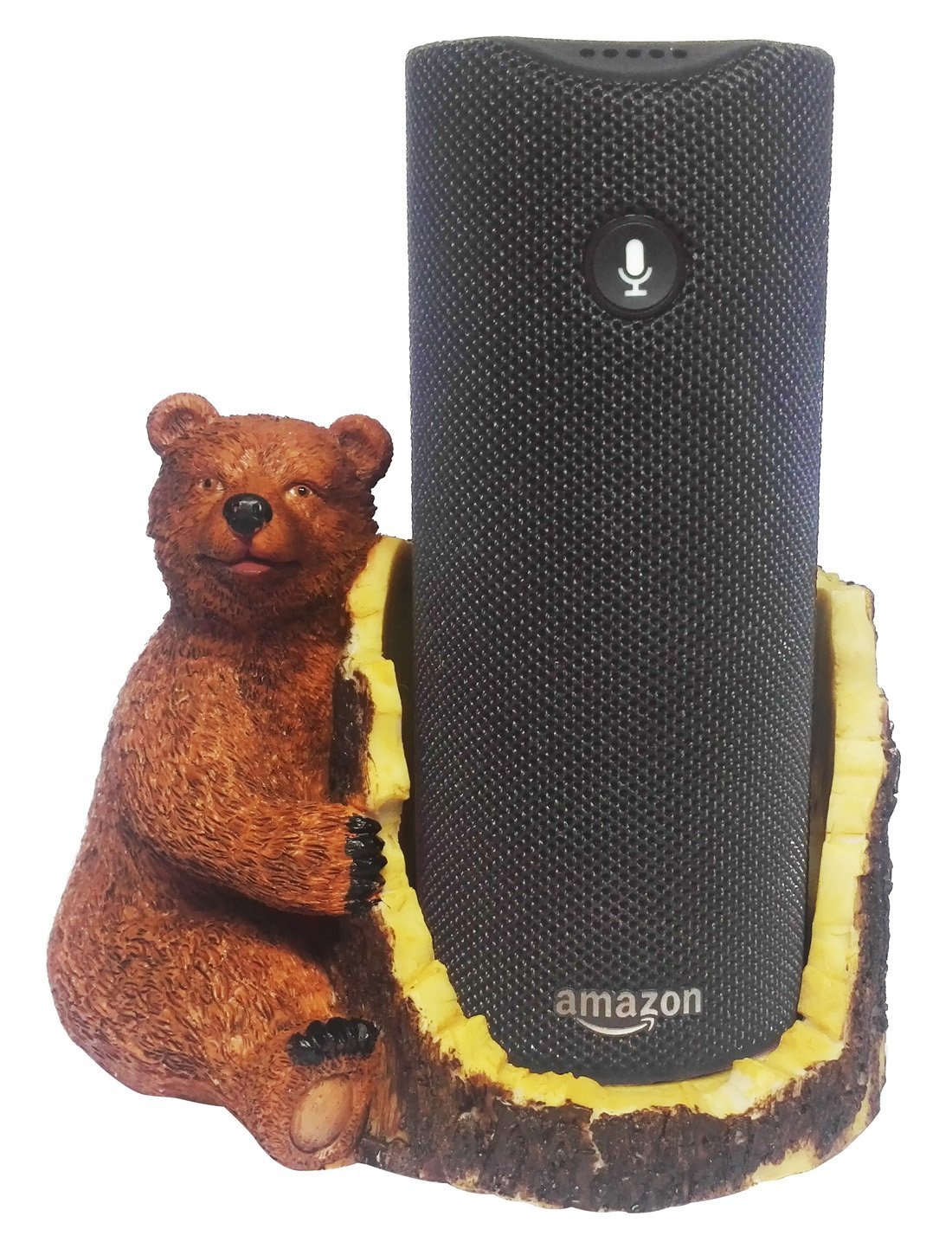 FitSand(TM) Brown Bear Crafted Statue Speaker Holder Stand Guard Station for Amazon Tap Bluetooth Speaker