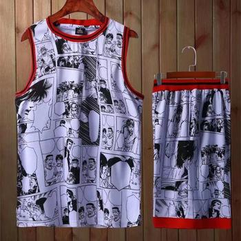 8b8bfa3a579 Kids Adult personality Basketball Jersey Sets Uniforms kits Men & Boys  Sports clothing Youth Training shorts