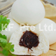 Oval Red Bean Paste Pau Delicious White Food