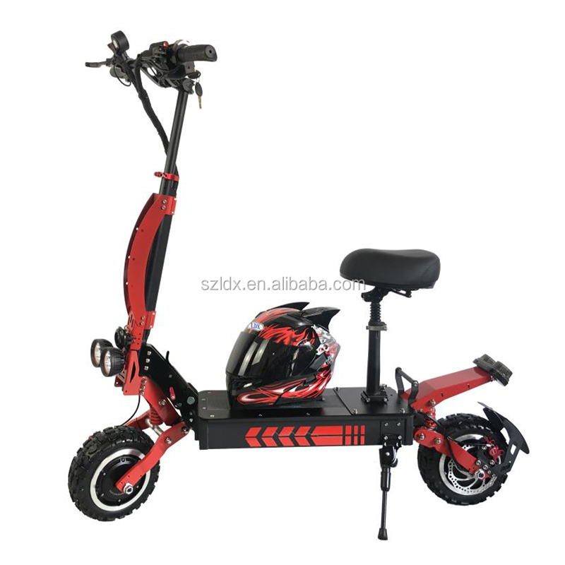 Dual Motor 1800*2W Electric Scooter Foldable Two Wheel Powerful Scooter for Adult with 11 Inch Off Road Tires, N/a