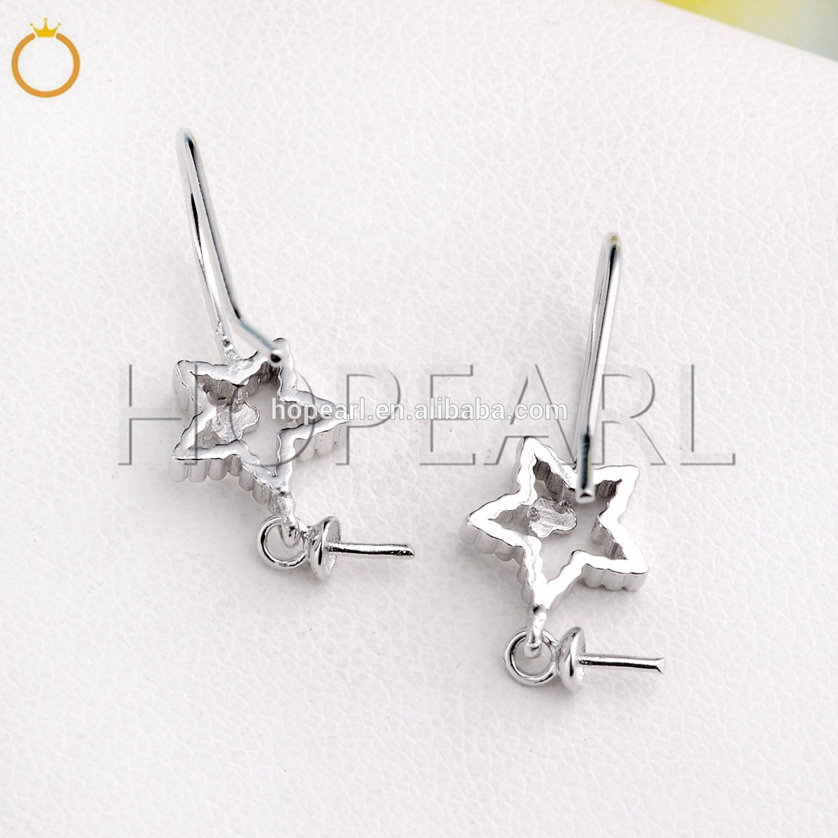 SSE211 Star with Little Heart 925 Sterling Silver Earring Findings for Women Girls