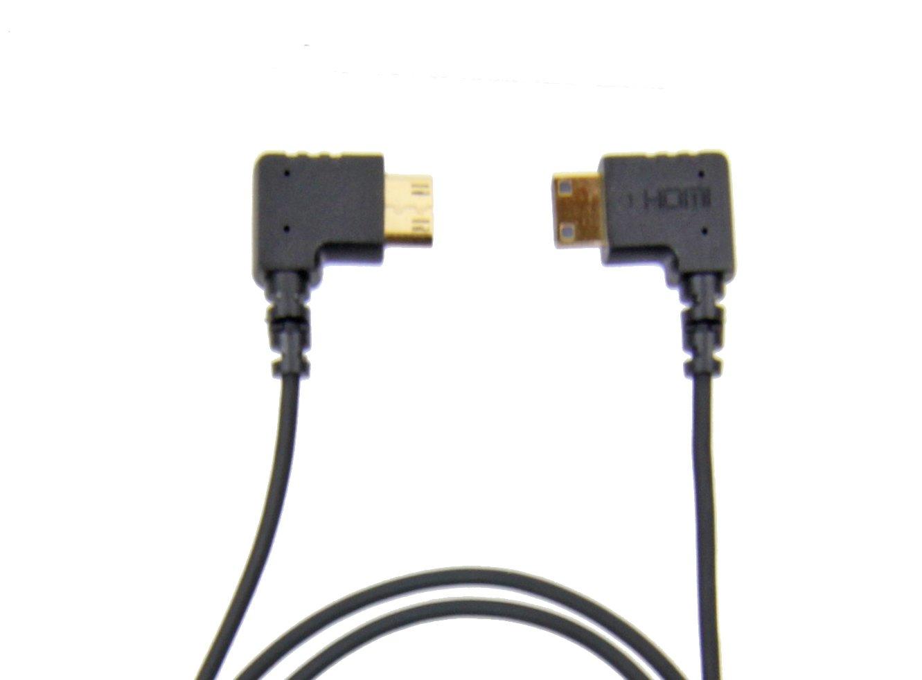 CMR UltraFlex Micro Right Angle HDMI Male To Standard HDMI Male Cable 15 Inches