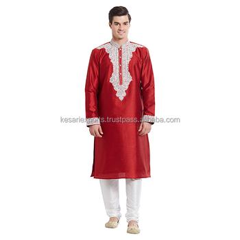 Red Designer Kurta Pajama Buy Designer Kurta Pajama For Mens 82702