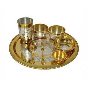 Silver Coated Brass Thali Set