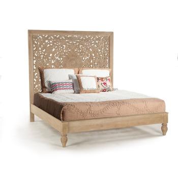 Wooden Bedroom Furniture Carving Design Maharaja Double Bed ...
