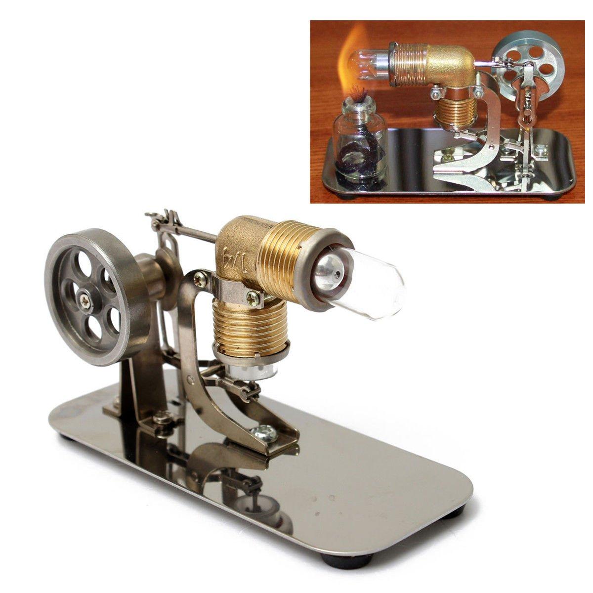 Mini Hot Air Stirling Engine Motor Model Educational Kit, Electricity Generator Drive Kit - Gift US
