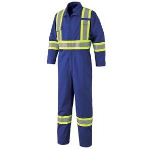 Coverall Uniforms Work Wear Hi Vis Flame Retardant With Reflective Construction Coverall