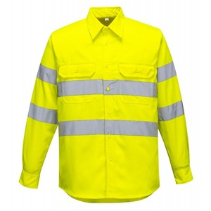 Breathable work t shirt cotton reflective work shirts hi vis workwear shirts