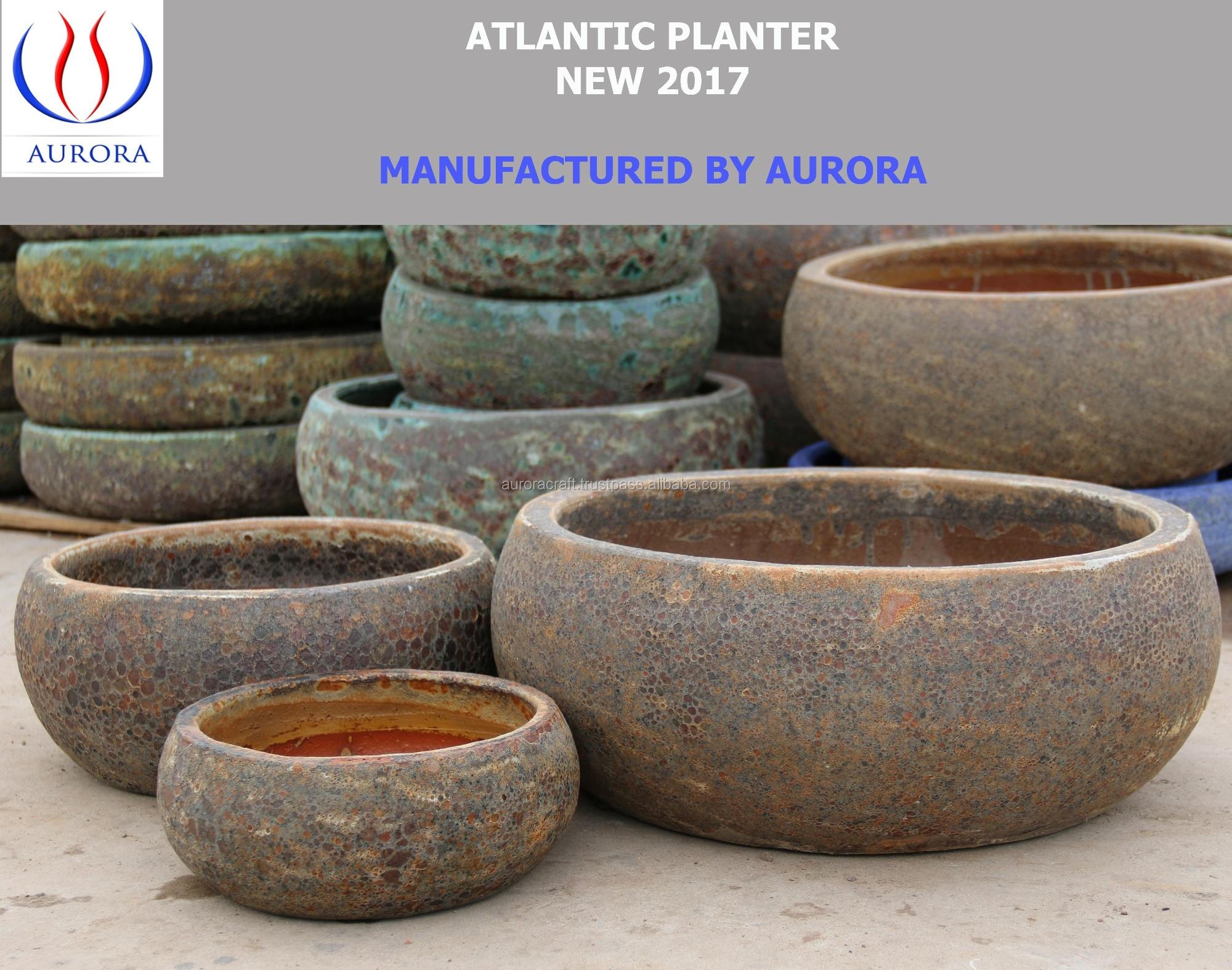 Atlantic Antique Ceramic Planter Pottery