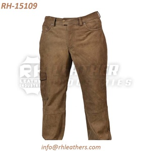 Men jeans style winter very hot Pant/Hunter autumn cowhide finishing leather trouser/outdoor shooting popular camel color pant