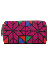 Jaipuri Hand Embroidered Cotton Wallet Ladies Evening Purse Handbag Clutch Bag
