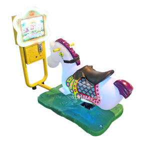 Flower Horse kiddy rides horse hot sale coin operated horse kiddie ride