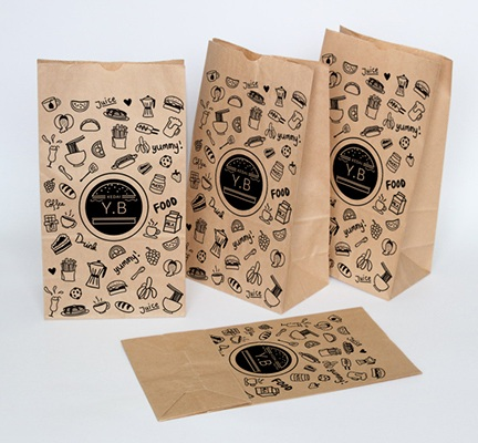 Fast food takeaway kraft paper bags