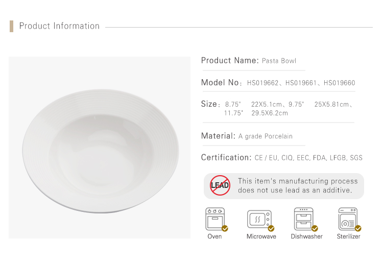 Luxurious Chaozhou Factory Bulk Dinner Plates Pasta Plate, Moden Strong Lounge Custom Ceramic Plate Coupe Bowl Deep<