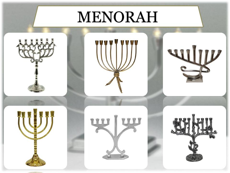 Menorah kaars cups