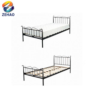 Home living furniture bedroom portable folding bed heavy duty steel metal bunk beds
