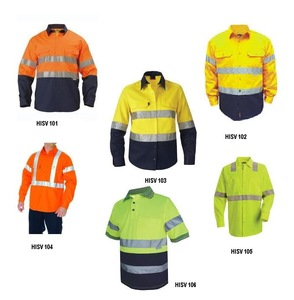 high visibility reflective long sleeve work dress shirts