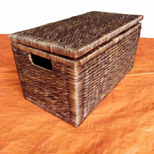 Water Hyacinth Trunks / Laundry basket linen / Handmade Crafts Box & Bins