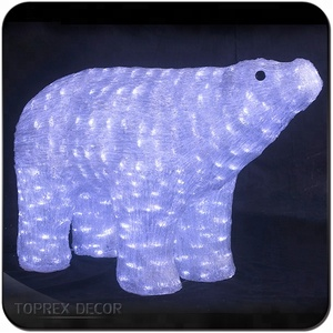 Animal ornaments led acrylic outdoor polar bear christmas decoration