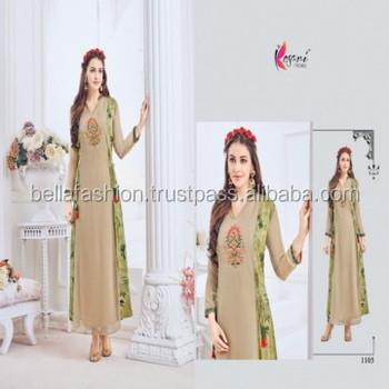 28ecea58ec Latest Modern Indian and Pakistani Women Wear Full Length Western Designer  Fancy Looking Party Wear Dress