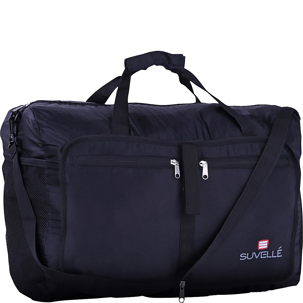 "Suvelle Lightweight 21"" Travel Foldable Duffel Bag For Luggage Gym Sports Water Resistant Nylon Duffle"