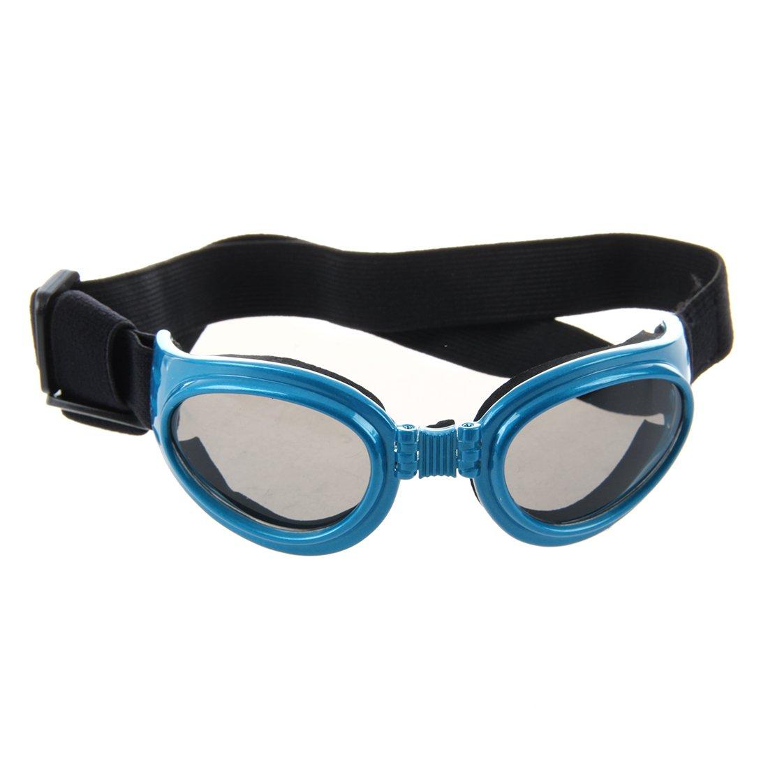 TOOGOO(R) Blue Framed Pet Puppy Dog UV Protection Doggles Goggles Sunglasses Eyewear