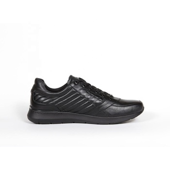 Black Leather Sneakers V686chp