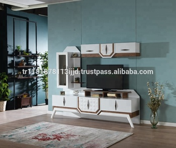 Okyanus Plasma Tv Wall Unit Design Series / Economic ... Plasma Unit Design