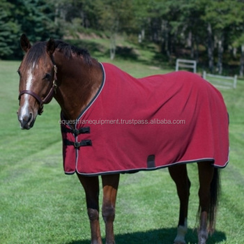 Cherry Red Fleece Horse Cooler Rug