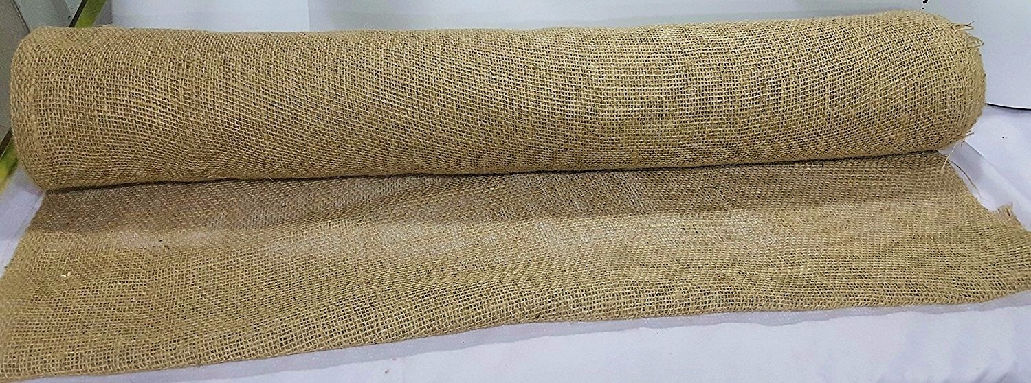 AAYU's Eco-friendly and Disposable Jute Burlap Planter Liner   Food grade burlap Rolls 16 Yards   Biodegradable Garden Fabric   Weed Barrier   Heavy 7oz   Burlap Rolls 36 inches   (48 foot)