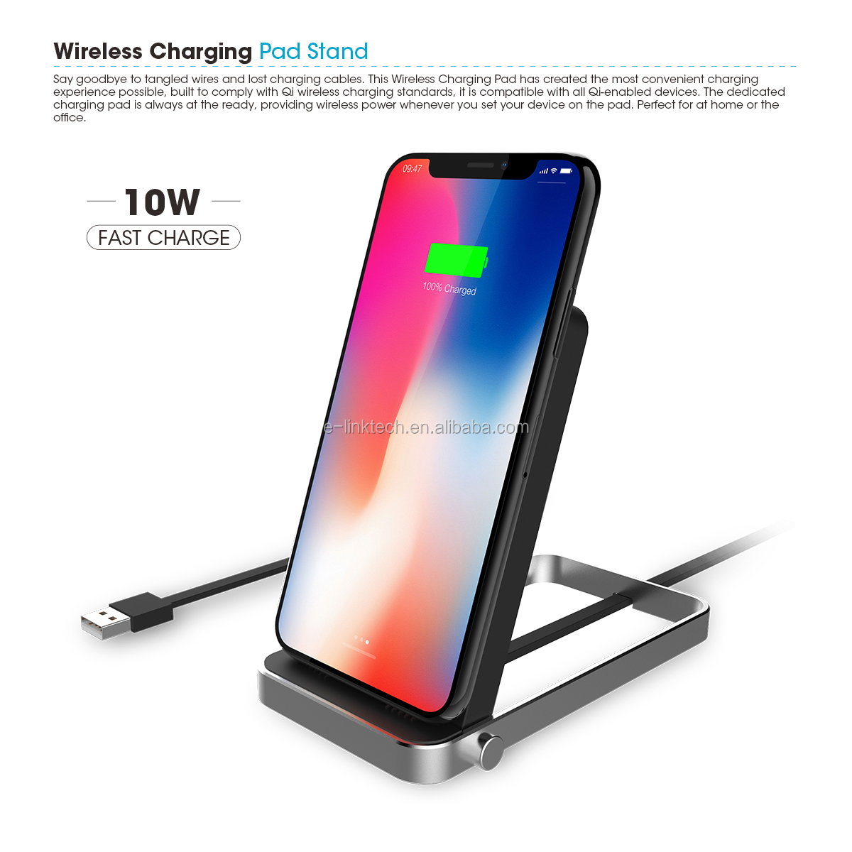 NEW Mobile Phone Charger Pad Wireless Fast QI Wireless Charger