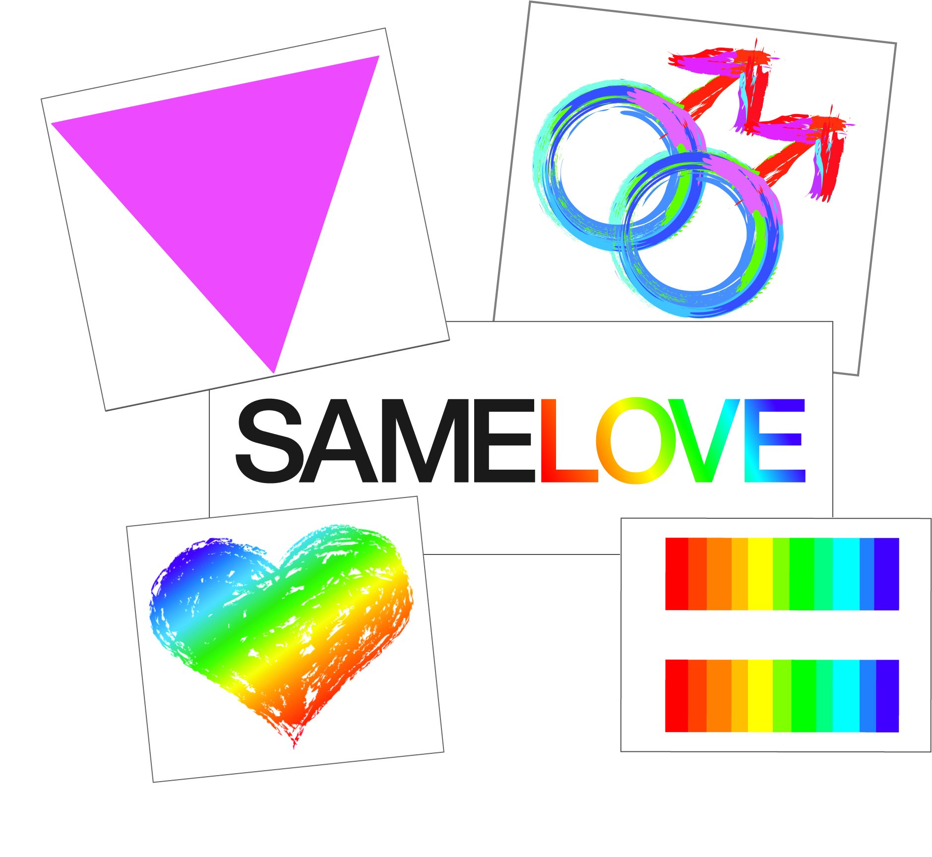8daff6a4a73e0 Gay Pride Samelove Temporary Tattoo Set - Rainbow LGBT Body Art - Friend  Gift - Accessory - Set of 2 Temporary Tattoos, Size 2.5