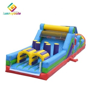 Custom size adult kids interactive games back yard bouncy assault cheap inflatable obstacle course for sale