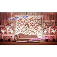 Wedding Stage Flower Back Wall, Leather Wall Panels, Leather Decorative Wall Panels For Wedding