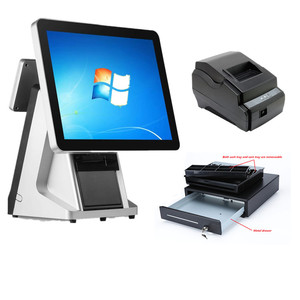 K-330C China POS System 2 Touch POS in Computer Terms Touch Screen Retail POS System Machine for Savings Account Guangzhou