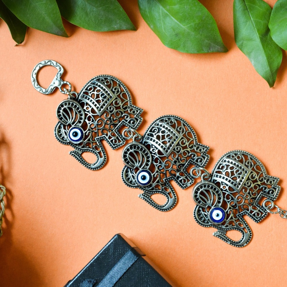 3 hanging elephants evil eye