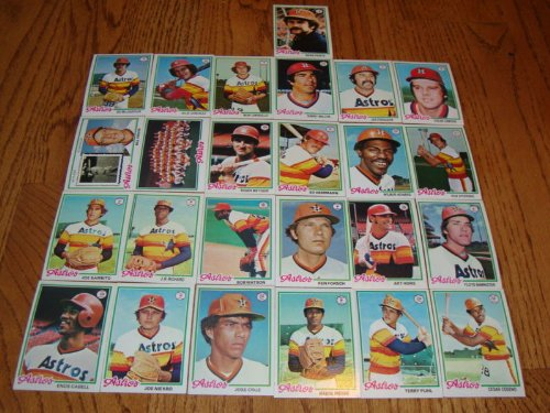 Houston Astros 1978 Topps Baseball Team Set (25 Cards) (Cesar Cedeno) (J.R. Richards) (Juaquin Andujar) (Jose Crus) (Terry Puhl) (Art Howe) (Joe Sambito) (Joe Niekro) and More