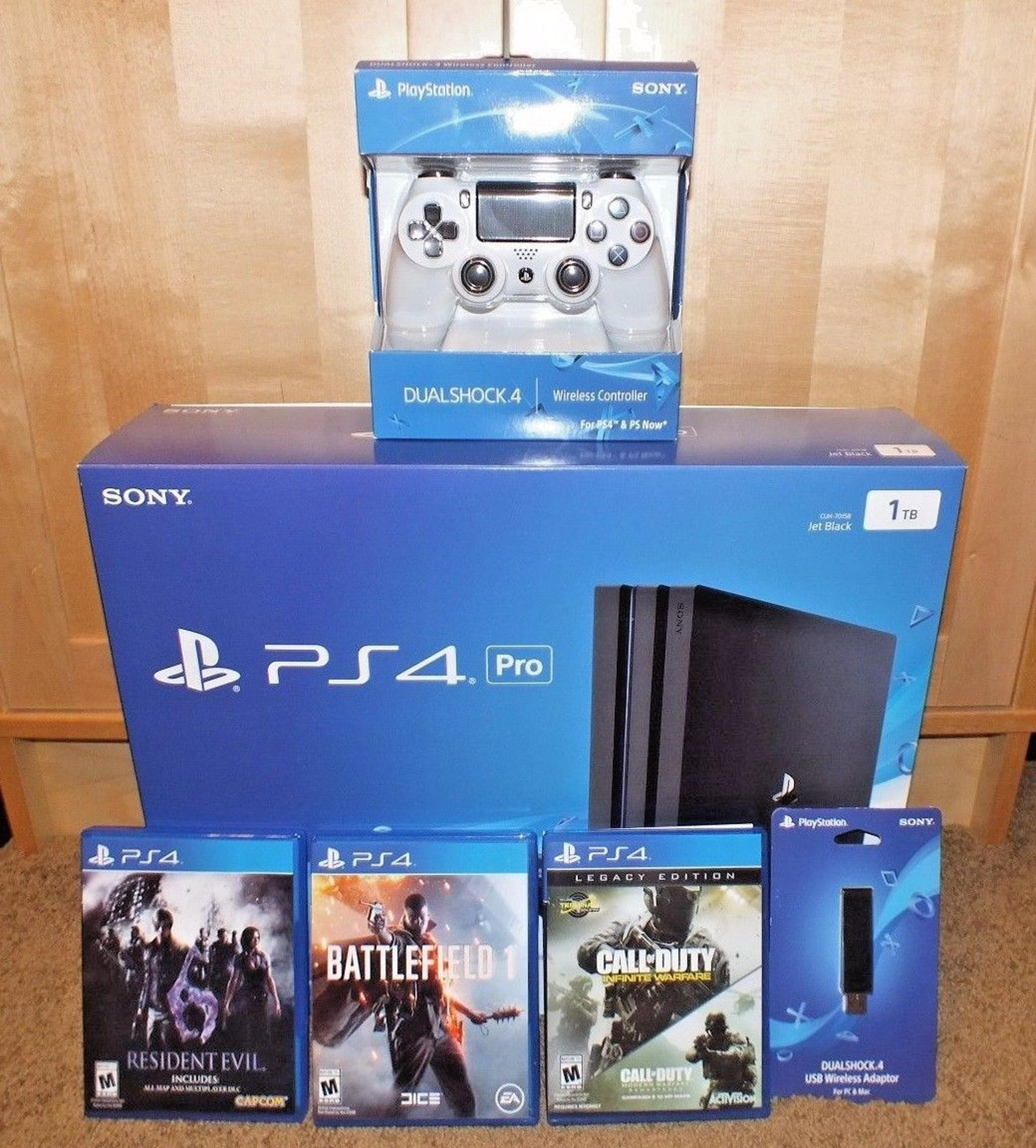 PROMO OFFER BUY 2 GET 1 FREE SONY PLAYSTATION 4 PRO CONSOLE 1TB PS4 CONSOLE 30 Games 4 Controllers Wireless Headset