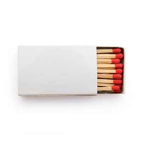 Wooden cigar matches with customized logo matchbox