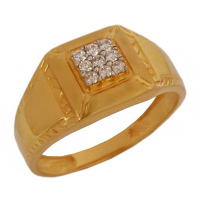 Fine Jewelry 18 Kt Solid Yellow Gold Men's Size 10.5 Engagement Wedding Ring Delicate Jewelry