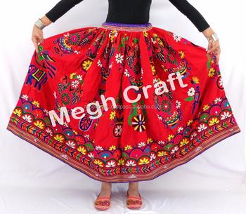 e79e77f57c Vintage Hand Embroidered Skirt - Vintage Kutch Cotton Rabari Banjara Skirt-  Handmade Embroidered Skirt