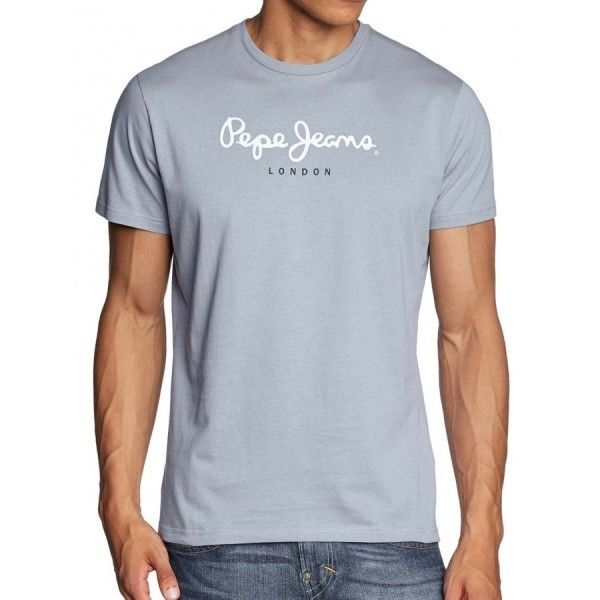 T-SHIRT PEPE JEANS HOMME EGGO CREW NEW YORK GRY