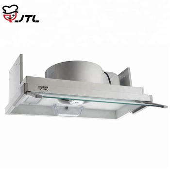 Small wall mounted baffle cooker hood for kitchen