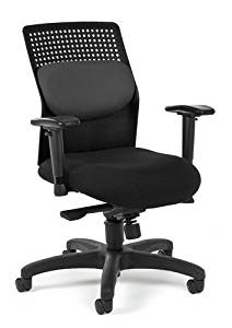 """Ofm Office Chair Overall: 28.75""""W X 28.75""""D X 39-42.5""""H Seat Size: 19.25""""W X 20.75""""D Back Size: 16.75""""W X 21.75""""H Seat Height: 18.75""""-22.25"""" - Gray"""