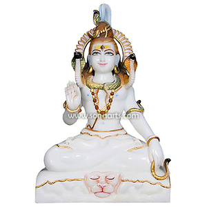 Marble Shiva Murti for Temple - lord shiva marble statue for sale manufacturer exporter Jaipur